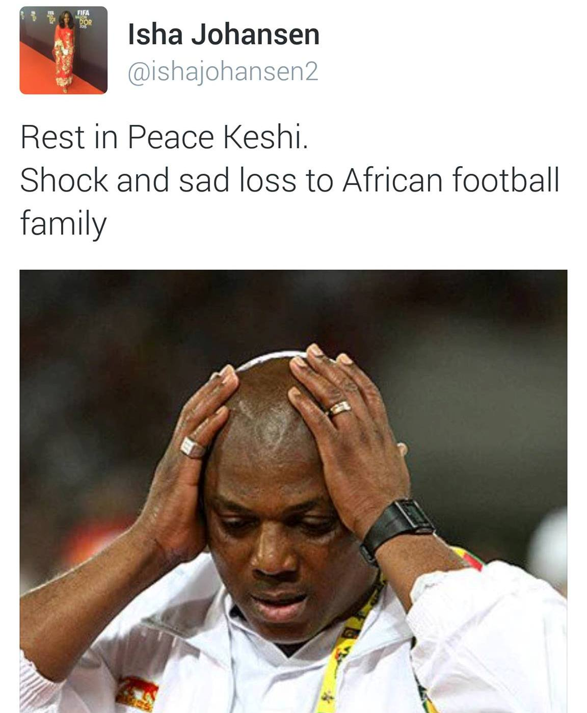 RIP: Sierra Leone Football Association pays tribute to Nigeria's Steven Keshi