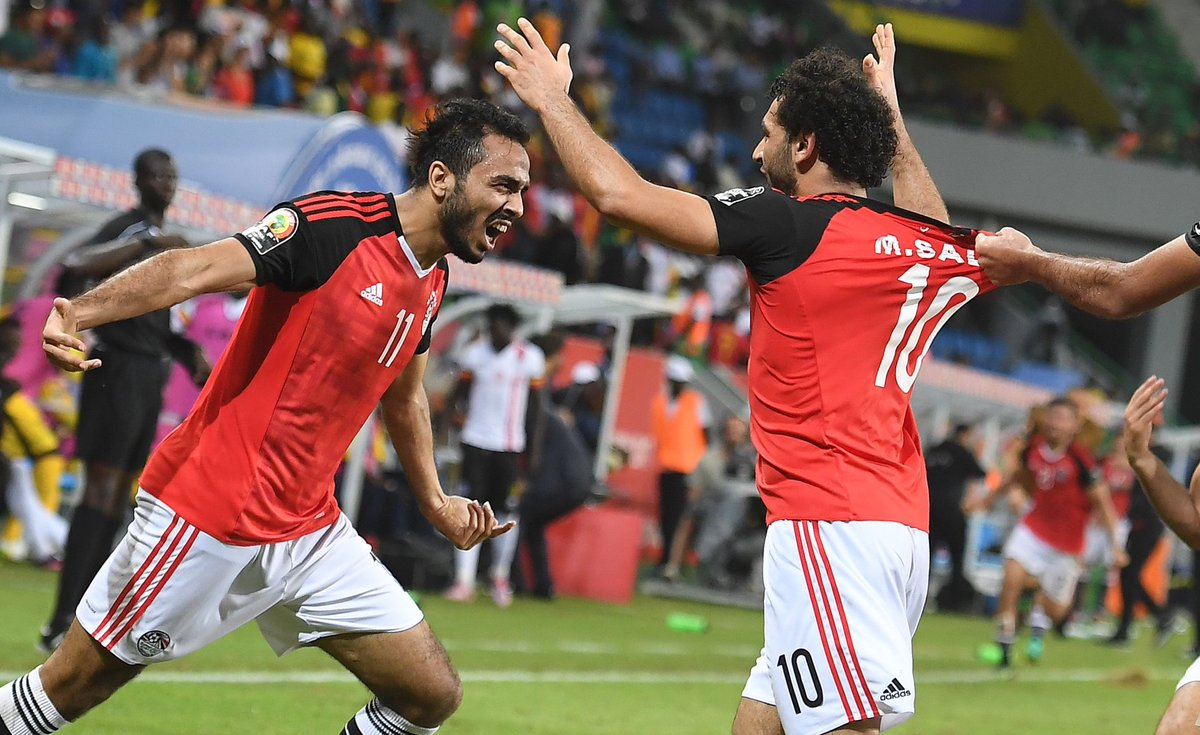 AFCON: Egypt snatch late victory to eliminate Uganda