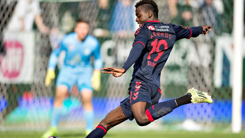 Bundu scores first goal for AGF Aarhus in Danish Superliga
