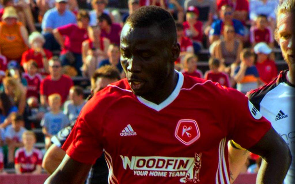 Alhaji Kamara scores Kickers first goal