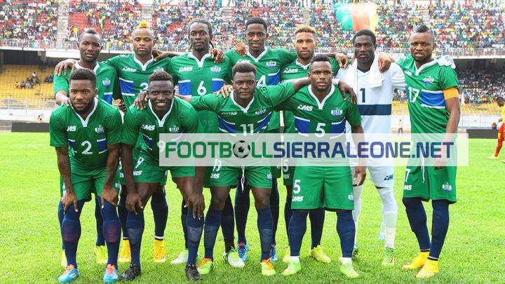 "alt=""Sierra Leone moved down again to 98th position from 97th last month in the latest FIFA world rankings announced on Thursday."""