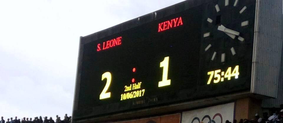 'Sierra Leone pitch is not good for football'… Kenya coach blast