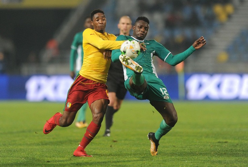 Nigeria v Cameroon in action Chan 2018