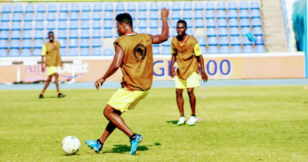 "alt=""CAF Champions League Sheka Fofanah in training with Al-Merrikh."""