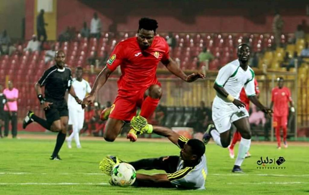 "alt=""Fofanah scores as Merrikh rolls out of CAF Champions League"""