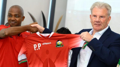 """alt=""""Paul Put was unveiled in November 2017 as Harambee stars new boss """""""
