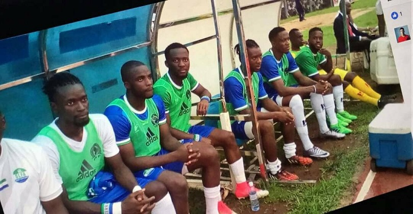 """Sierra Leone players in the opener of African Nations Cup 2019 qualifiers in Freetown"""