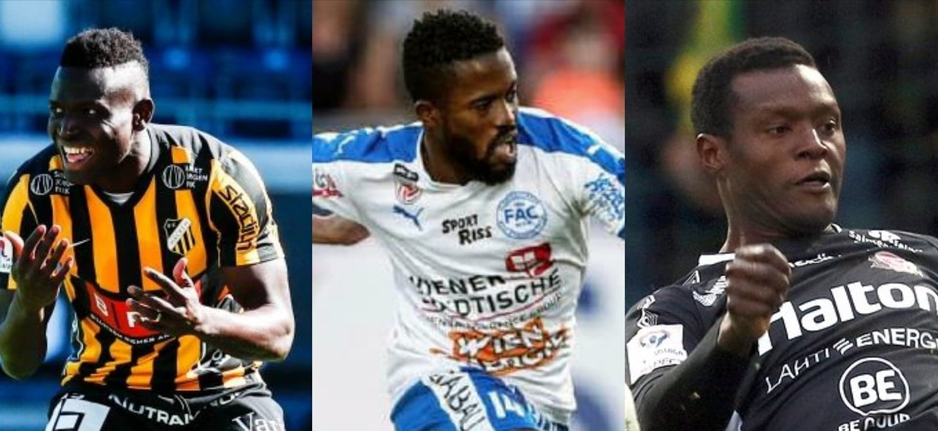 """Alhassan 'Crespo'Kamara, George Davies and Hassan Milla Sesay are all set for action in the Europa action League"""