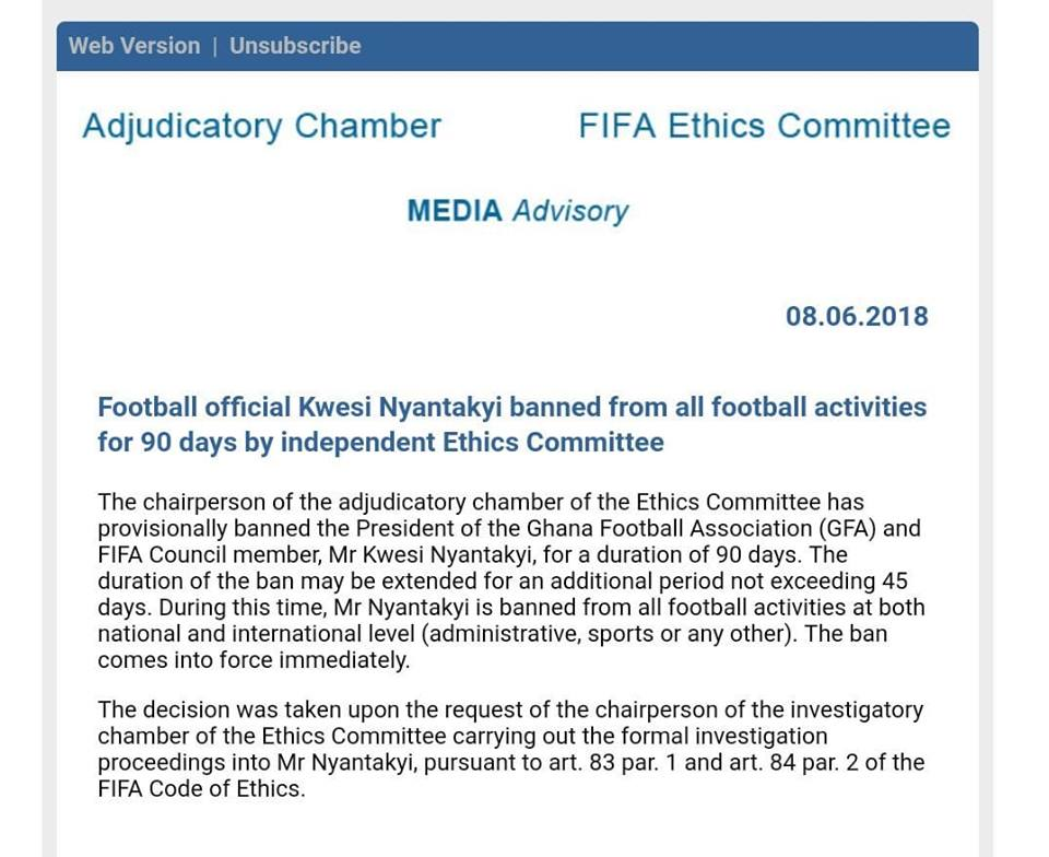 """The Fifa Ethics Committee document """