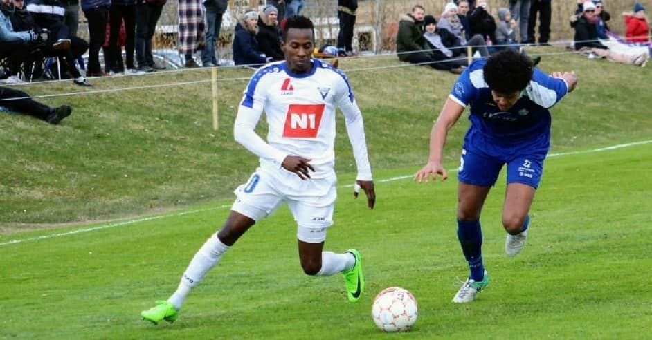 """Quee pictured in action scored first league goal of this season in Vikingur win on Wednesday"""