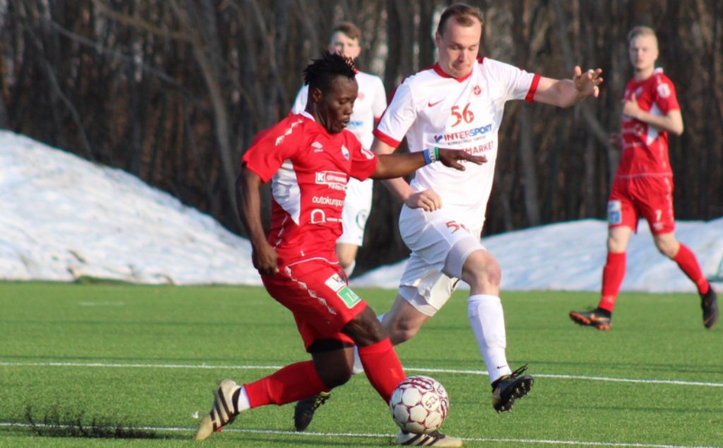"""Abdul 'Buduski' Sesay (Pictured in action) was on target as TP47 defeat VIFK Vaasa 2-0 on Wednesday """