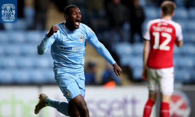Coventry striker Bakayoko scores in win over Fleetwood