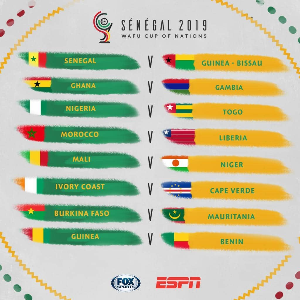 "<img src="" WAFU Cup of Nations "" alt="" WAFU draw for the 2019 Cup of Nations in Senegal"">"