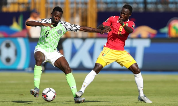Nigeria beat Guinea to advance into AFCON last 16