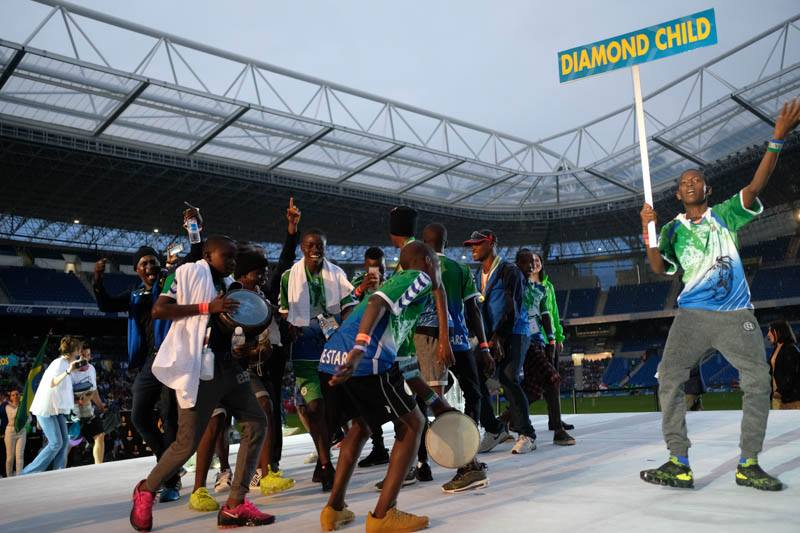 Diamond Child U-14 silver medalists from Sierra Leone