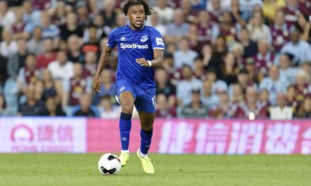 Nigeria's Alex Iwobi scores in Everton win over Wolves