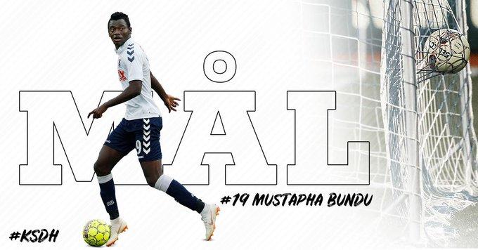 Bundu fires hat-trick in Aarhus win over Aalborg BK