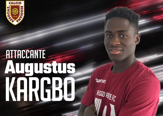 Augustus Kargbo looking forward to challenge at Reggio Audace