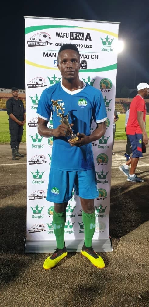 Hat-trick hero Suffian Kalokoh was named Man of the Match