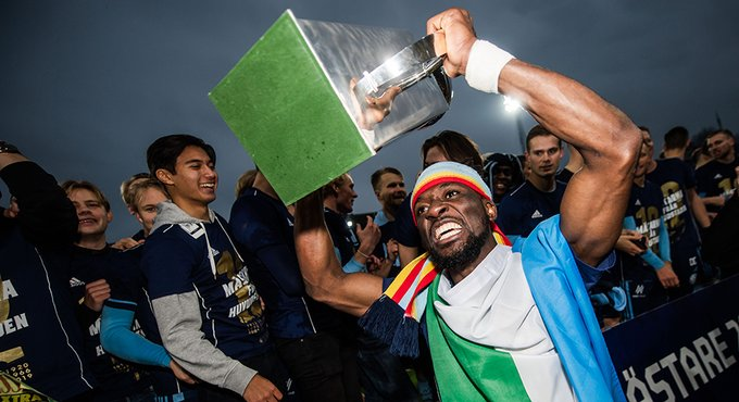 Buya Turay nets to win first major title with Djurgarden