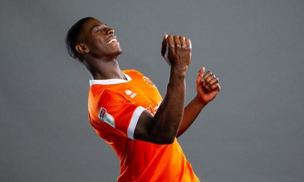 Blackpool striker Sullay Kaikai's goal delight