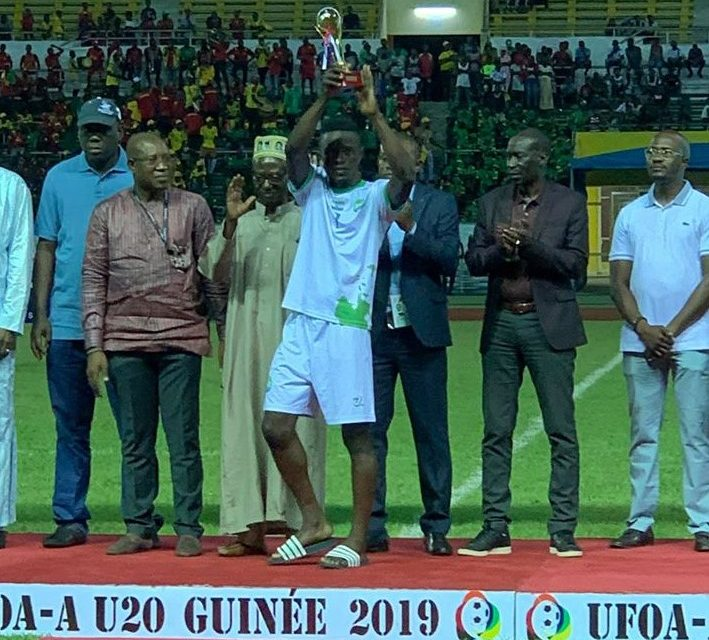 Suffian Kalokoh wins WAFU U20 top scorer award