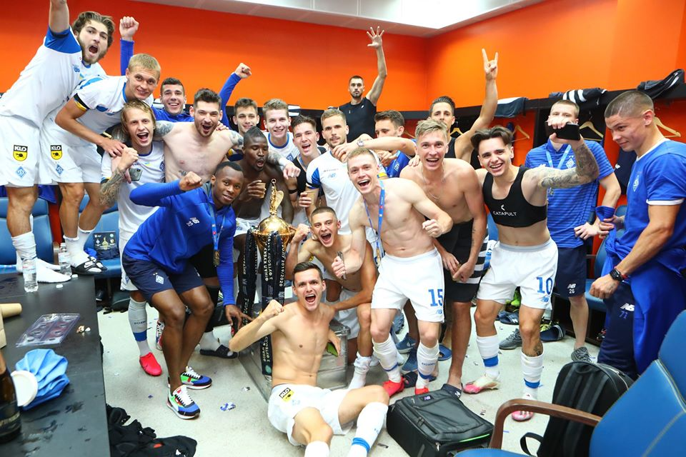Ibrahim Kargbo celebrated this season's Ukrainian Cup the club 12th