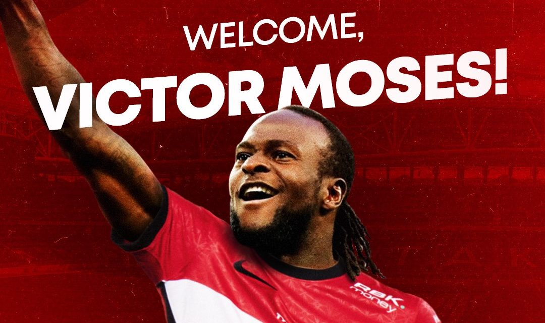 Spartak Moscow sign Nigeria's Victor Moses on loan