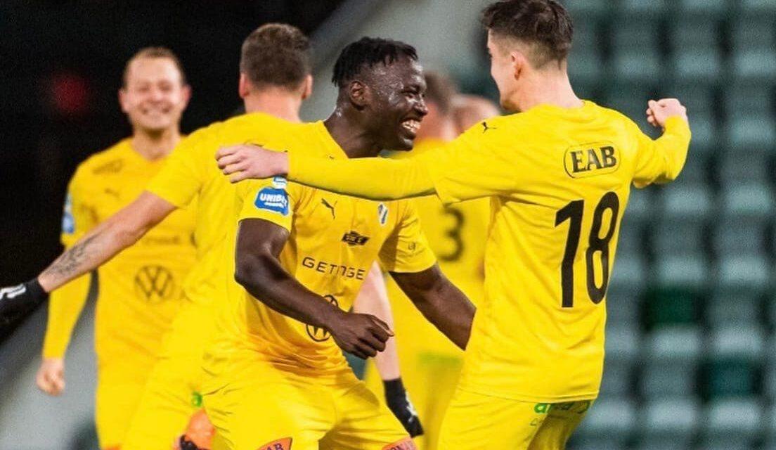 Alhassan Kamara nets as Halmstad promoted to Swedish Allsvenskan