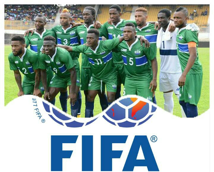 Ahead of Sudan tie, Leone Stars move up 10 places In Latest FIFA Rankings