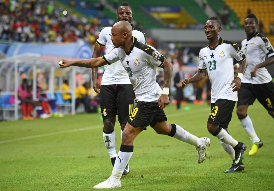 AFCON 2017: Ghana Black Stars beat Uganda, Ayew scores from the spot