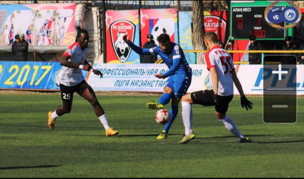 Kazakhstan: Kamara delighted with winning FK Kaisar debut