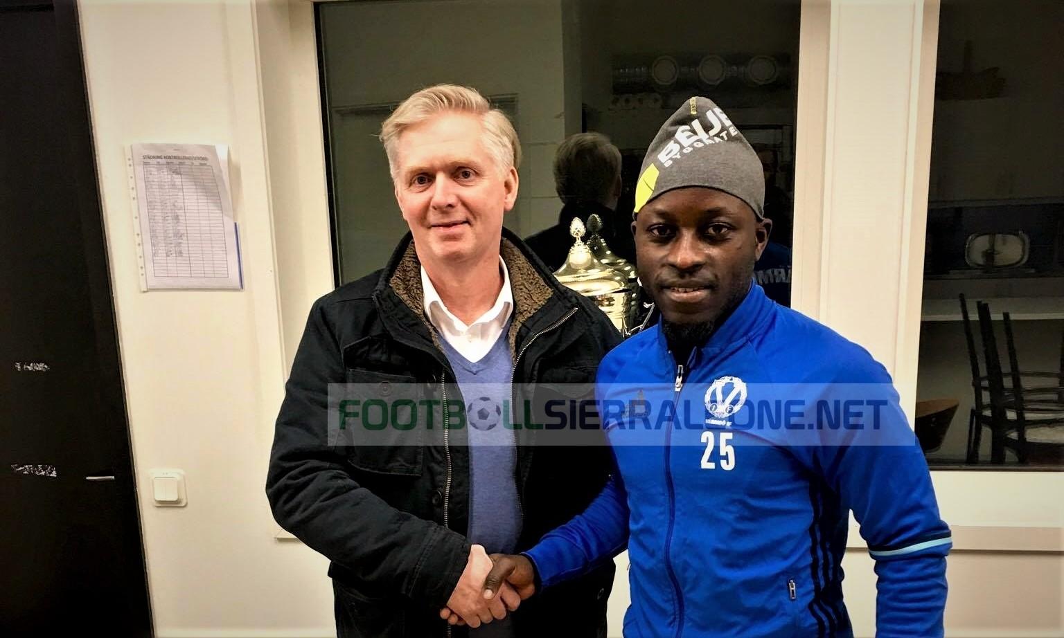 Sampha Kamara signs for Swedish side Varmdo IF