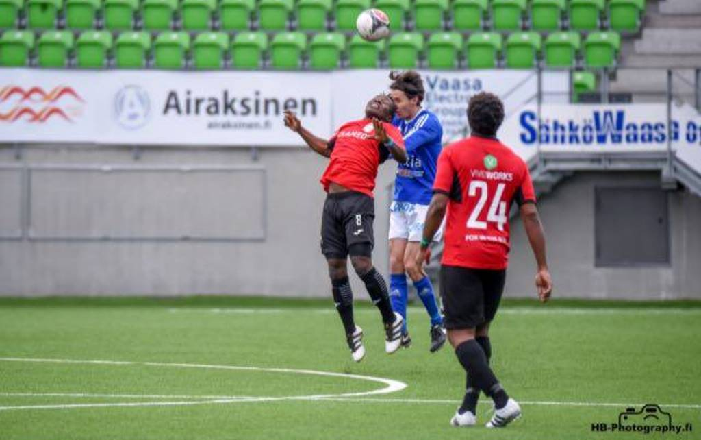 Sesay over the moon with Hercules debut away to Vasa IFK