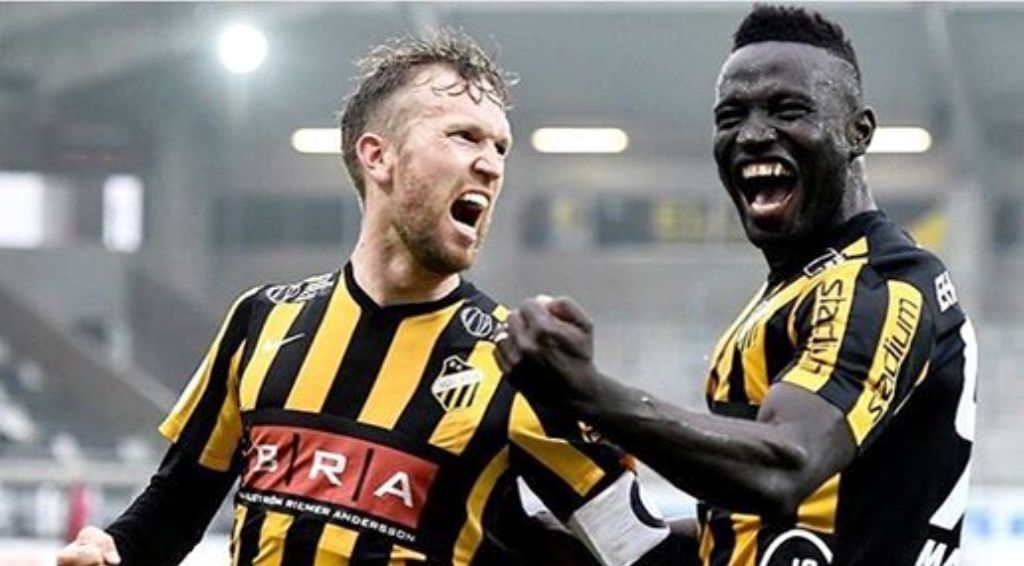 Joint-top scorer: Alhassan Kamara hits top gear in Sweden