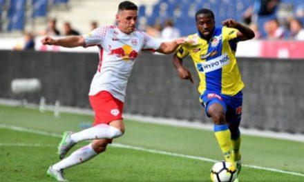 Sierra Leone midfielder Davies makes St. Pölten debut in Salzburg defeat