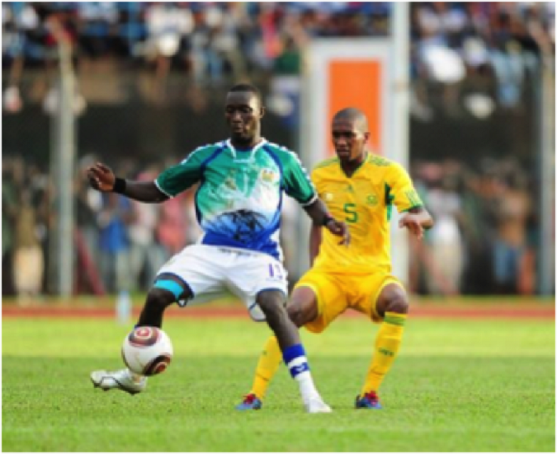 Alfred Sankoh was in action for Sierra Leone against South Africa
