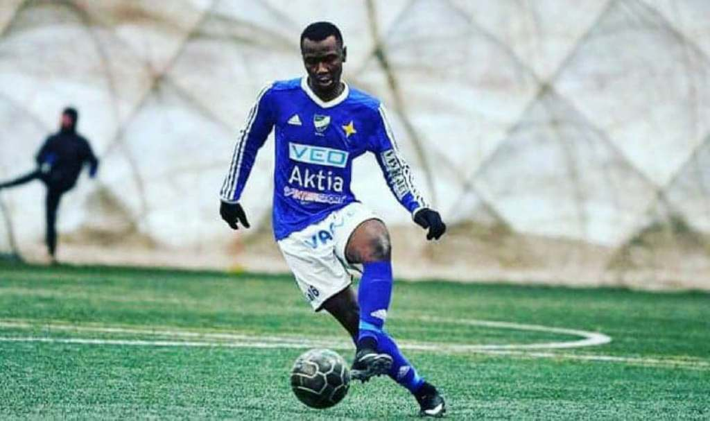 Foday Conteh scores his first goal for Vasa IFK in friendly