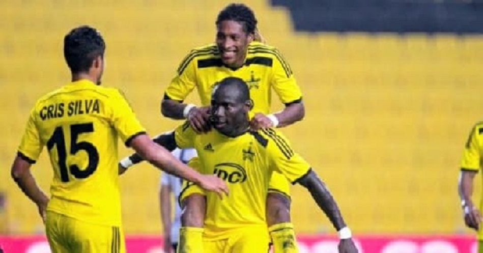 """Kamara celebrated with his team after completed his Hattrick"""