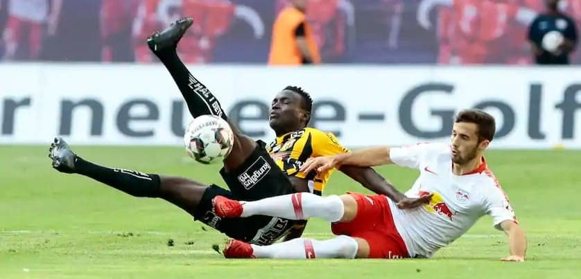 """Sierra Leone's Alhassan Kamara in action in Germany"""