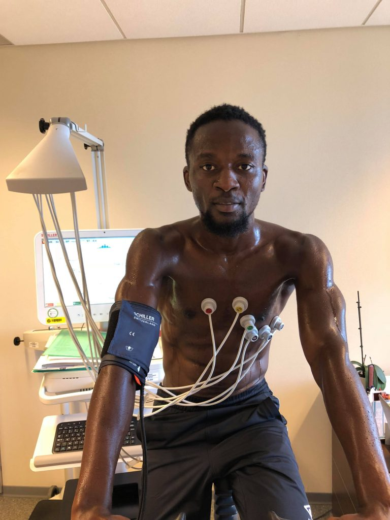 """The Sierra Leone striker was having his medical on Tuesday."""