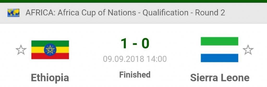 """Ethiopia beat Sierra Leone the away drought still on """