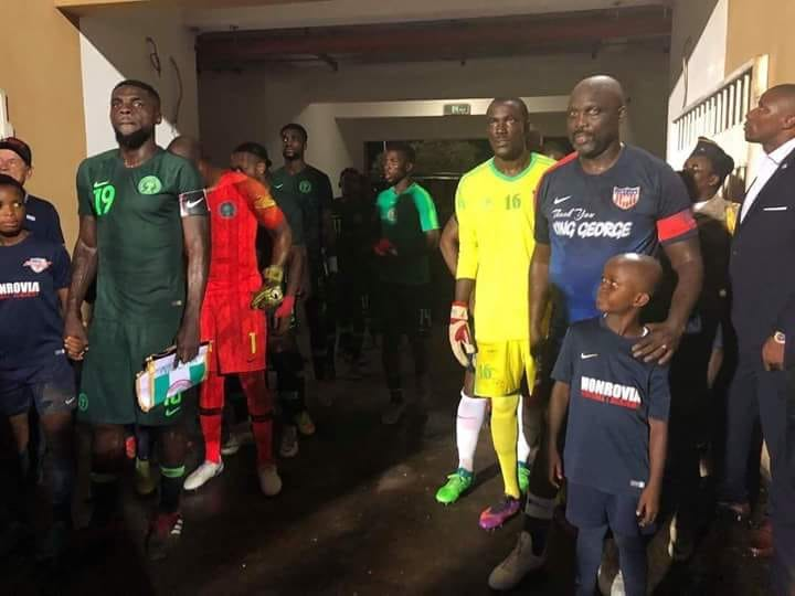 At the age of 51, Liberia's George Weah returned to international action in a friendly against Nigeria on Tuesday.