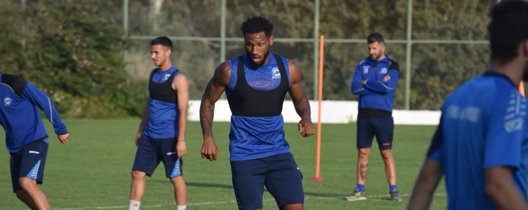 Sierra Leone defender Alie Sesay enjoying his football in Greece