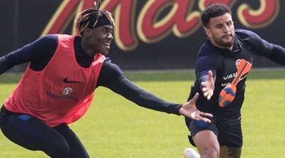 Trevoh Chalobah (left) trained with the senior team ahead of the World Cup