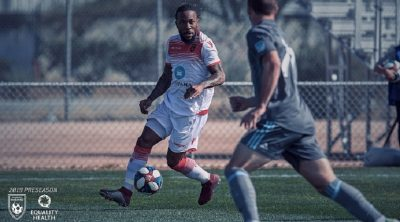 Sierra Leone's Mustapha Dumbuya in action for Phoenix Rising