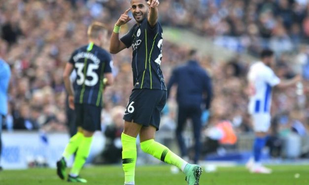 Riyad Mahrez scores as Manchester City retain title