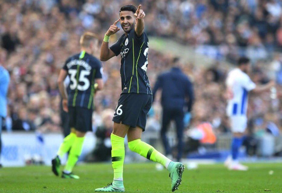 Riyad Mahrez scores as Manchester City retain title