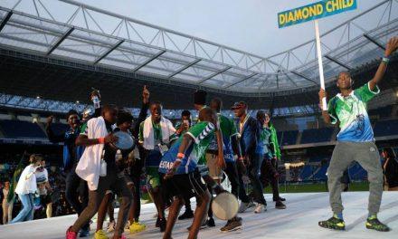 Diamond Child U-14 silver medalists from Sierra Leone