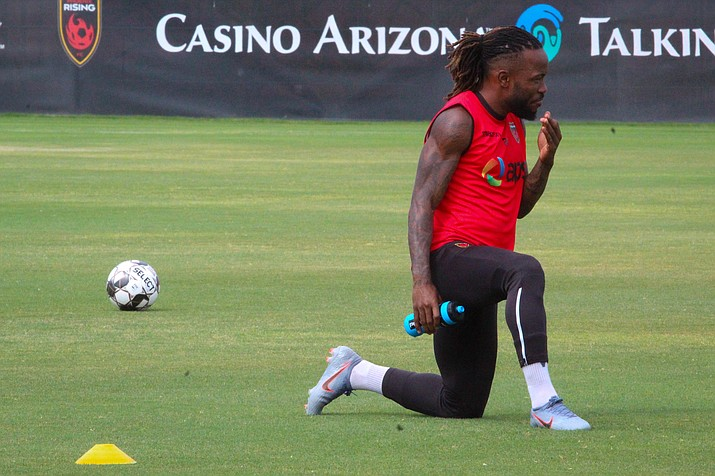 Defender Mustapha Dumbuya scores first Phoenix Rising goal